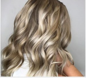 Long platinum blonde styled hair-Citrus Spa & Salon-day spa Brookline-617 277 3339